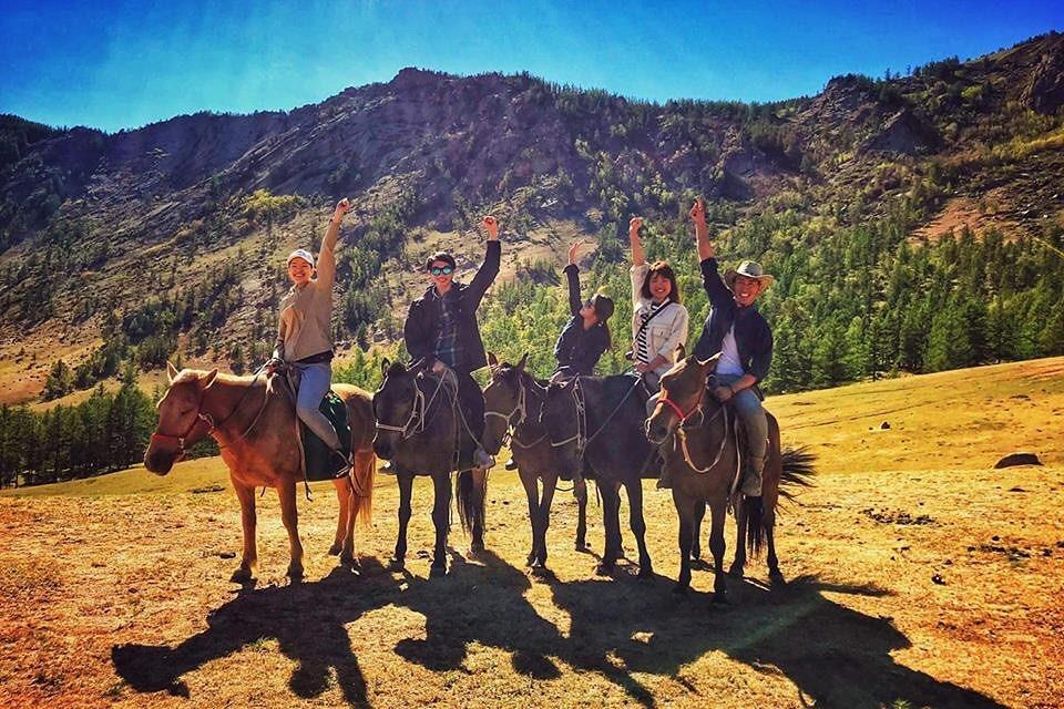 Horse riding at Terelj National Park Mongolia