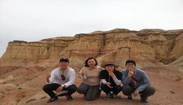 enjoying Mongolian tour