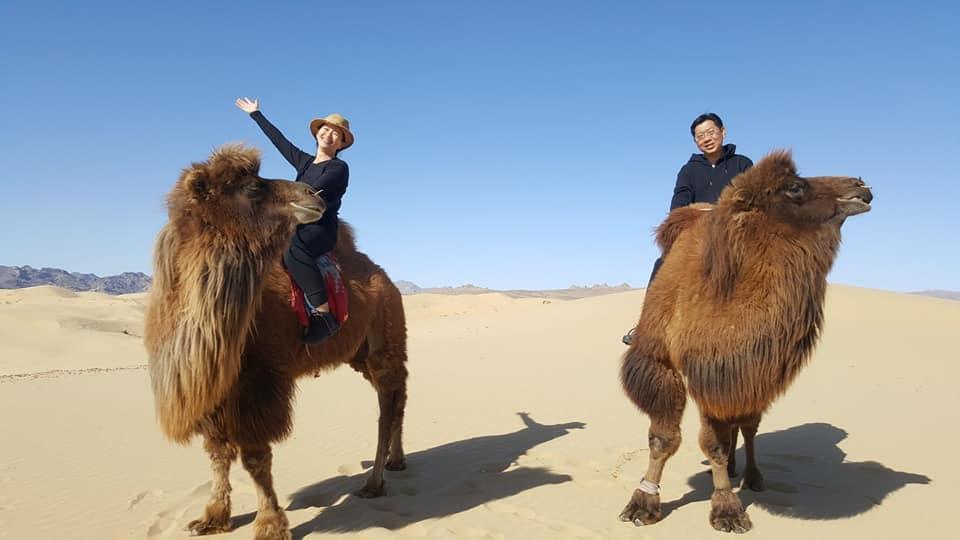 Camel riding day Mongolia