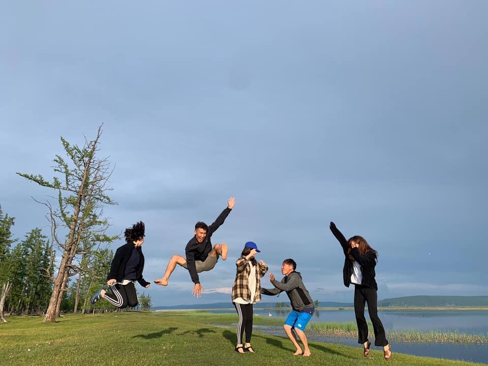 Relaxing day at Khovsgol lake Mongolia