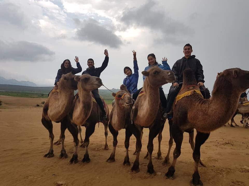 Riding Camel at  Semi Gobi