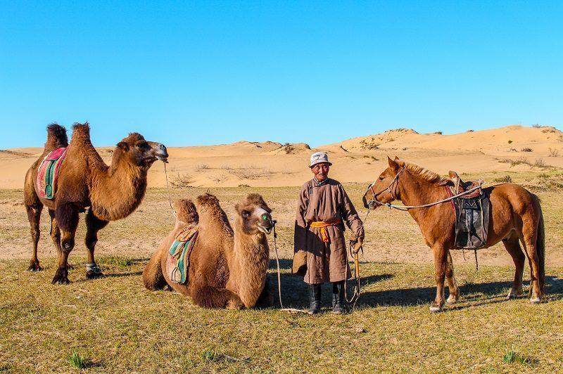 Real Mongolian Nomad family