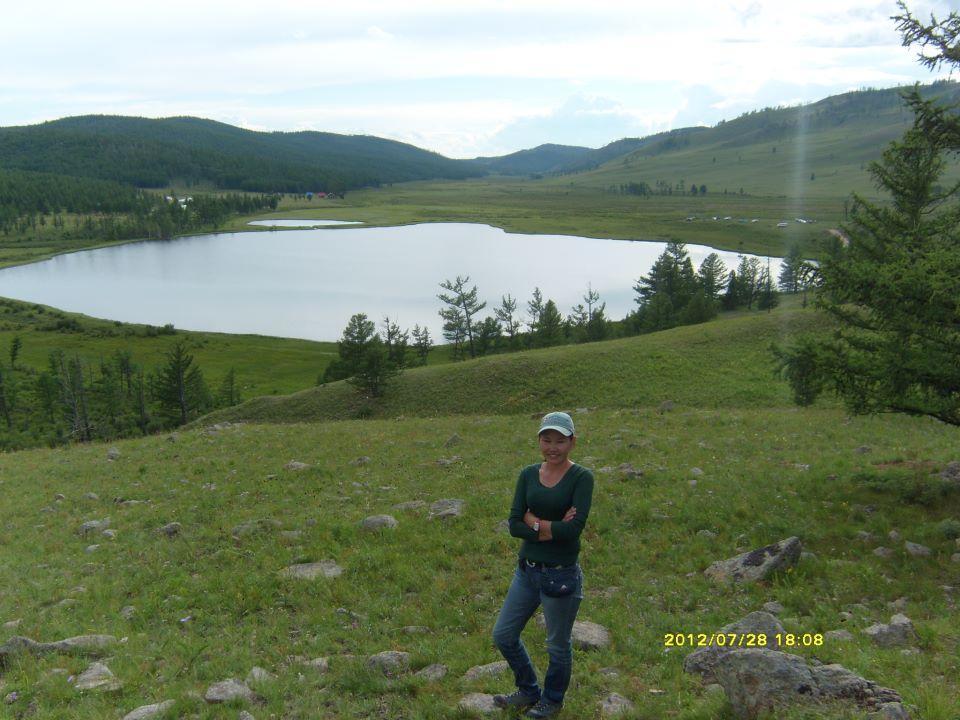 Blue lake Mongolia