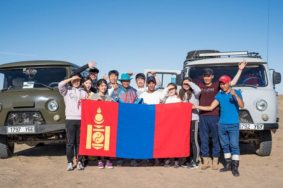 Group tour in Gobi