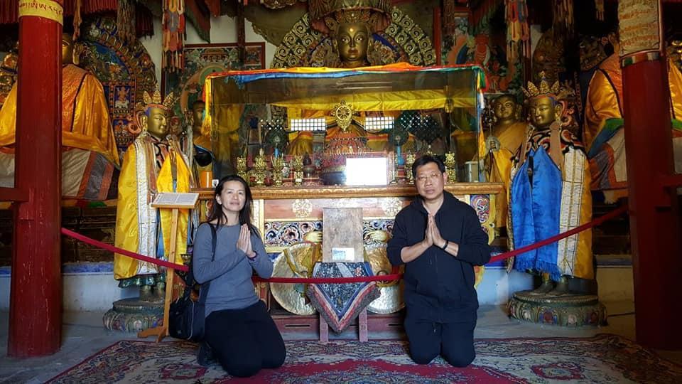 Praying at Erdene Zuu Monastery Mongolia